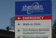 Sheridan Community Hospital Sign Photo